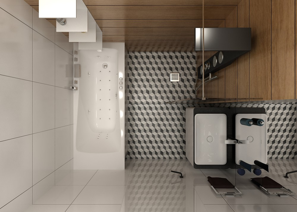 Compact Half Bath Layout - 5 ideas for a one bedroom apartment with study includes floor plans