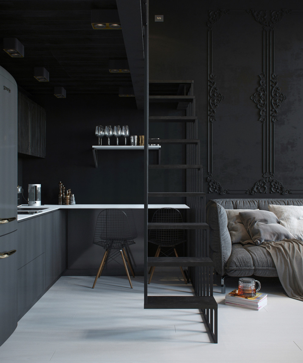 interior design in black - photo #36
