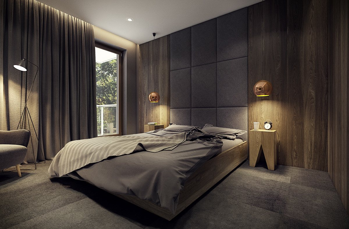 Dark And Moody Bedroom Theme - Dramatic interior architecture meets elegant decor in krakow