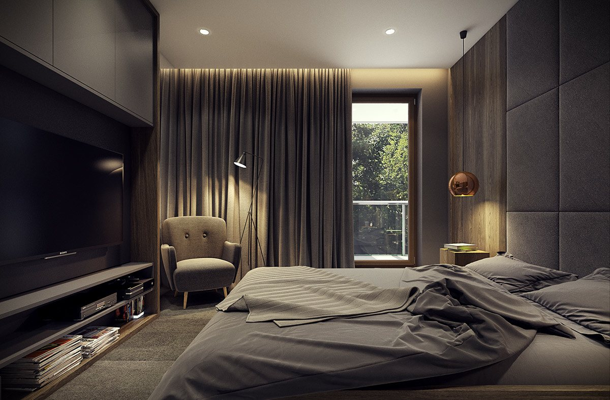 Dramatic interior architecture meets elegant decor in for Dramatic beds