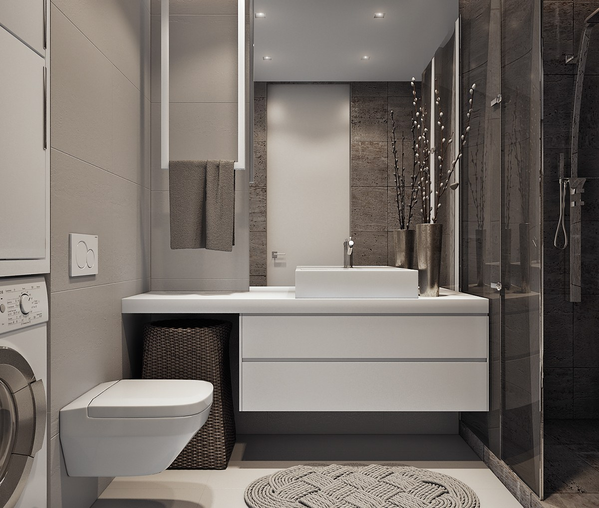 Space-efficient ideas for modern bathrooms
