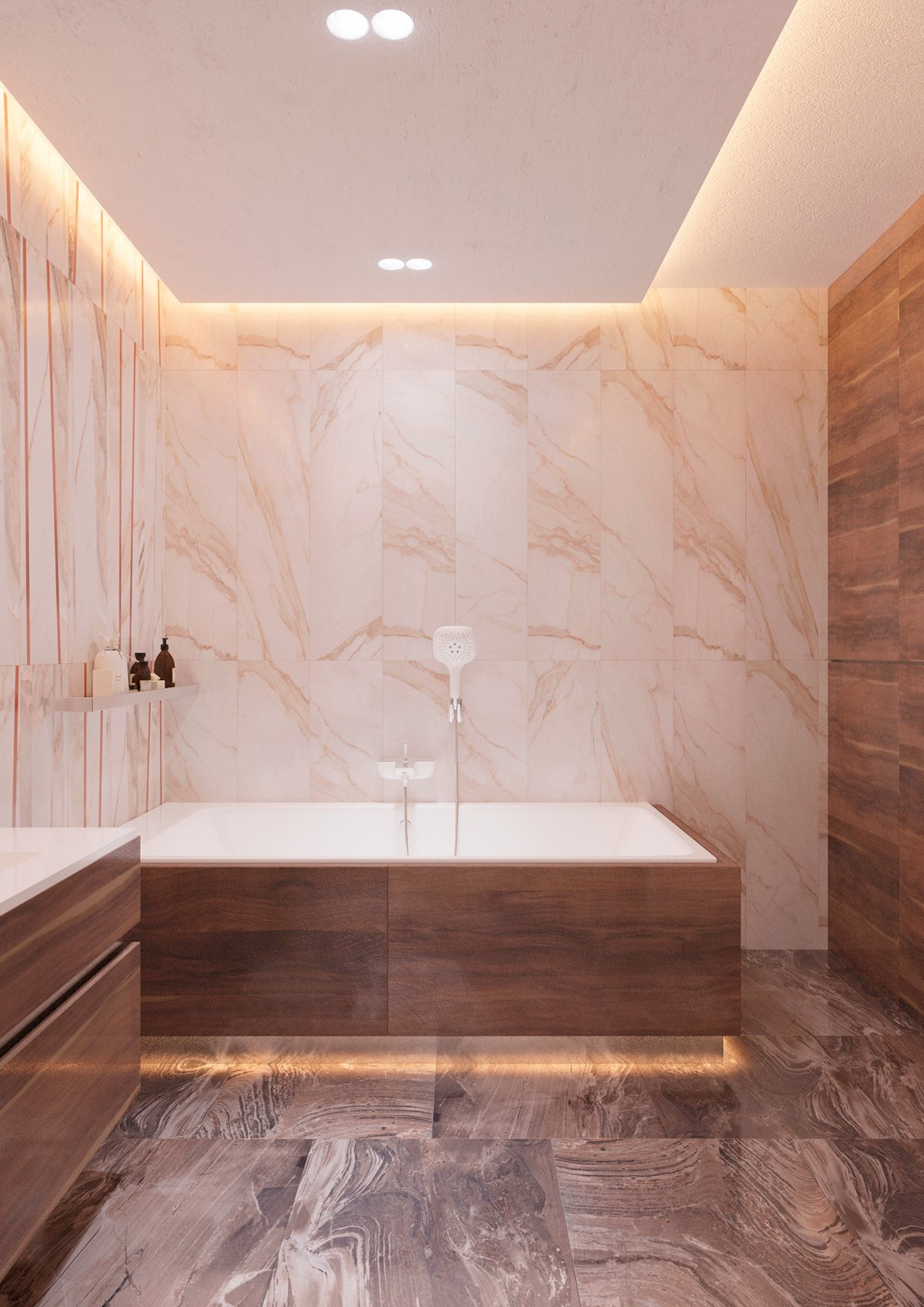Floating Bathtub Effect - 5 ideas for a one bedroom apartment with study includes floor plans