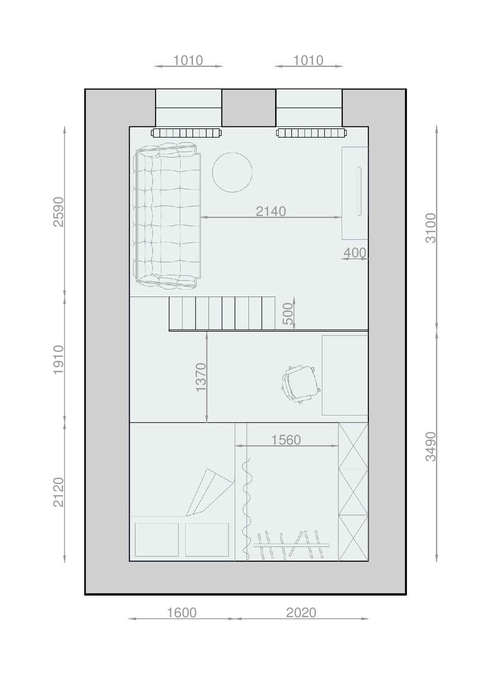 Floor Plan Under Square Meters