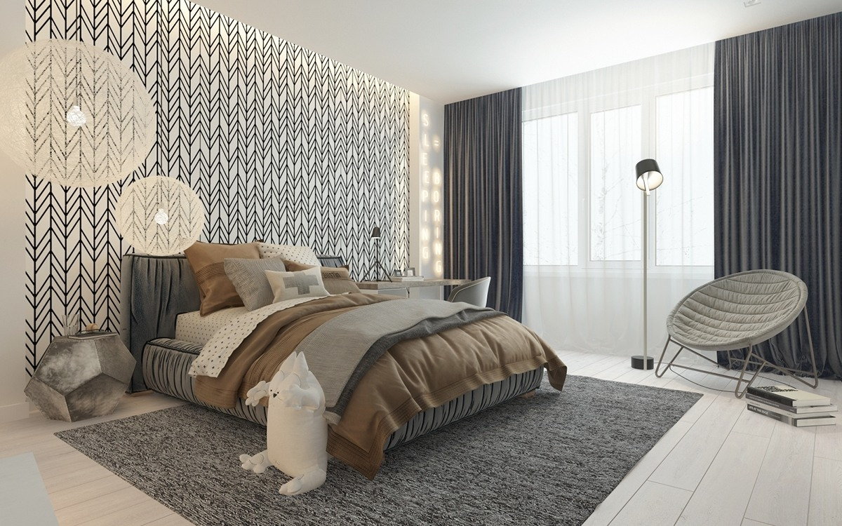 a pair of childrens bedrooms with sophisticated themes. Black Bedroom Furniture Sets. Home Design Ideas
