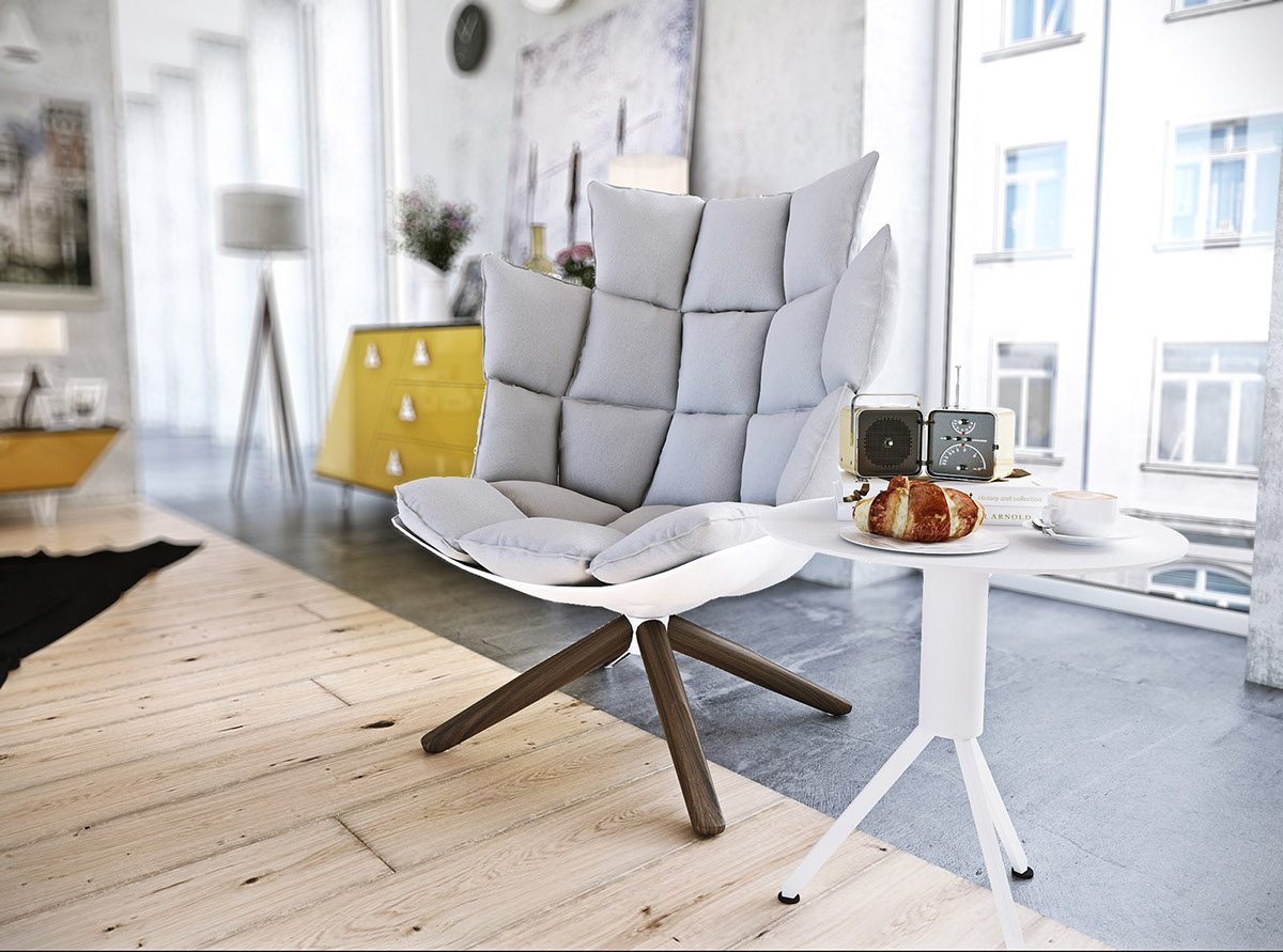 Geometric Husk Chair - 8 striking bedrooms with distinct personalities
