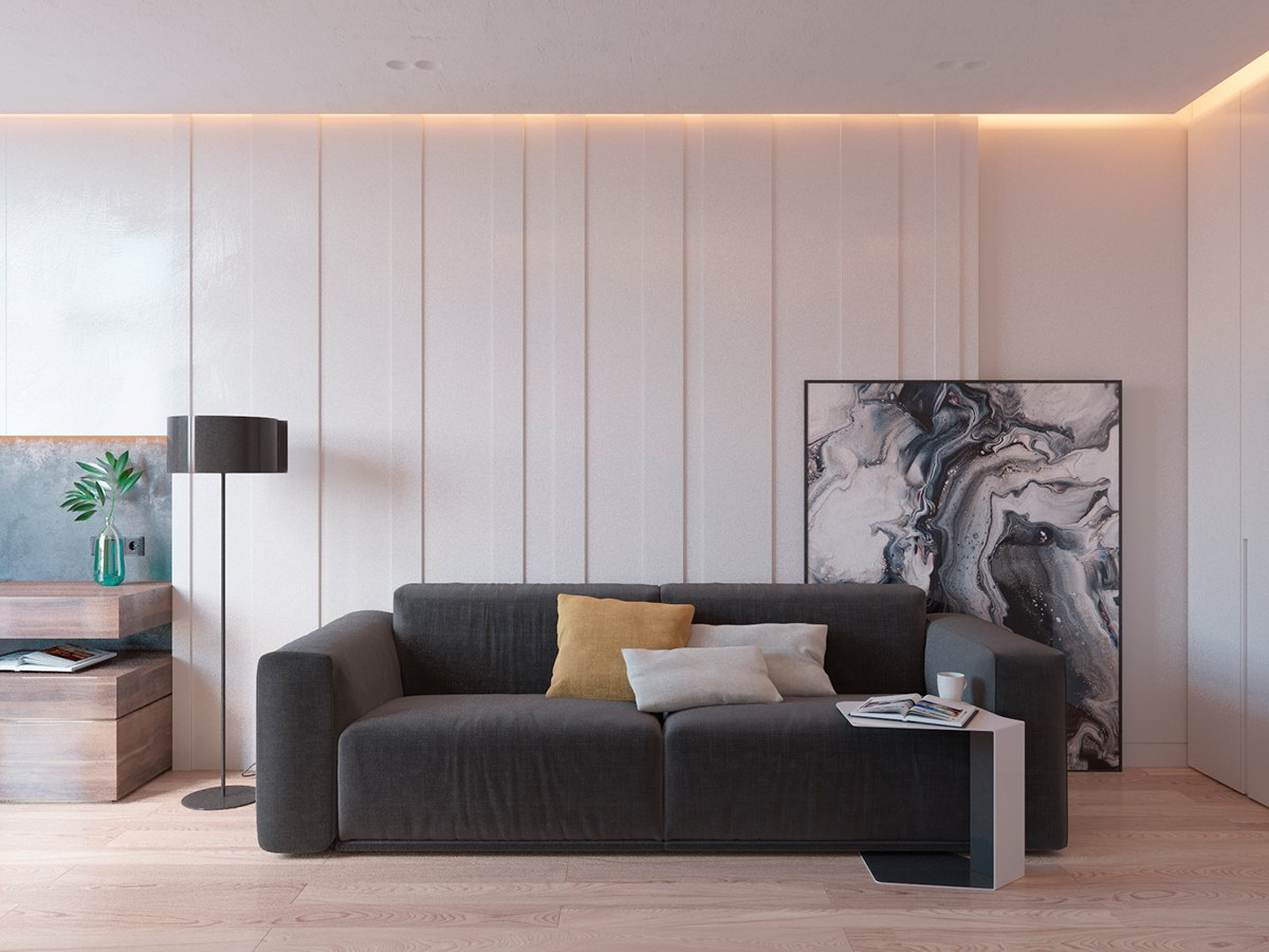 Inspiring Foyer Design Theme - 5 ideas for a one bedroom apartment with study includes floor plans