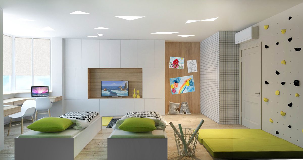 Two Efficient Apartments For Families With Two Children