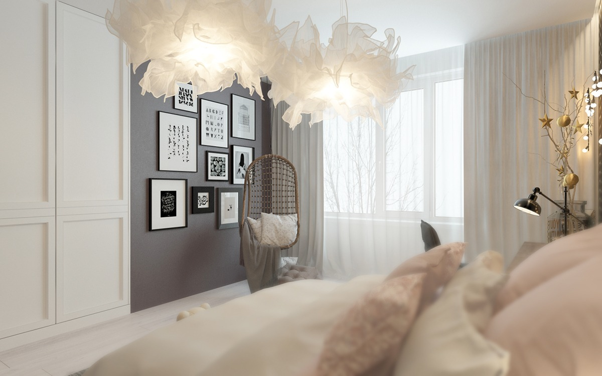 A pair of childrens bedrooms with sophisticated themes for Pictures of bed rooms