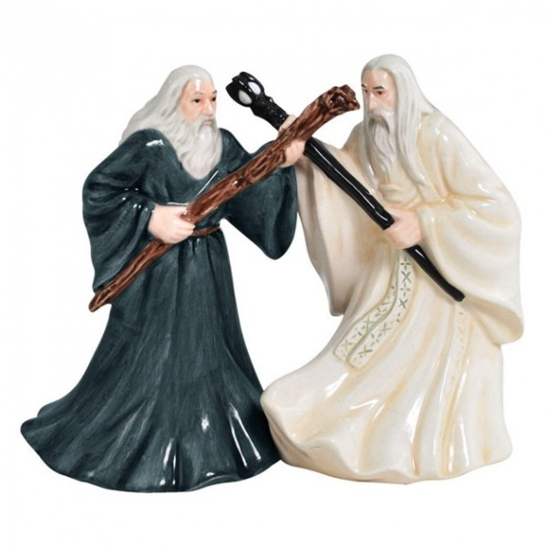 Gandalf and Saruman engage in an epic battle when they're not busy using their powers to salt and pepper your meal.