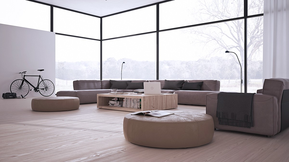 Inspiring minimalist interiors with low profile furniture for Minimalistischer einrichtungsstil