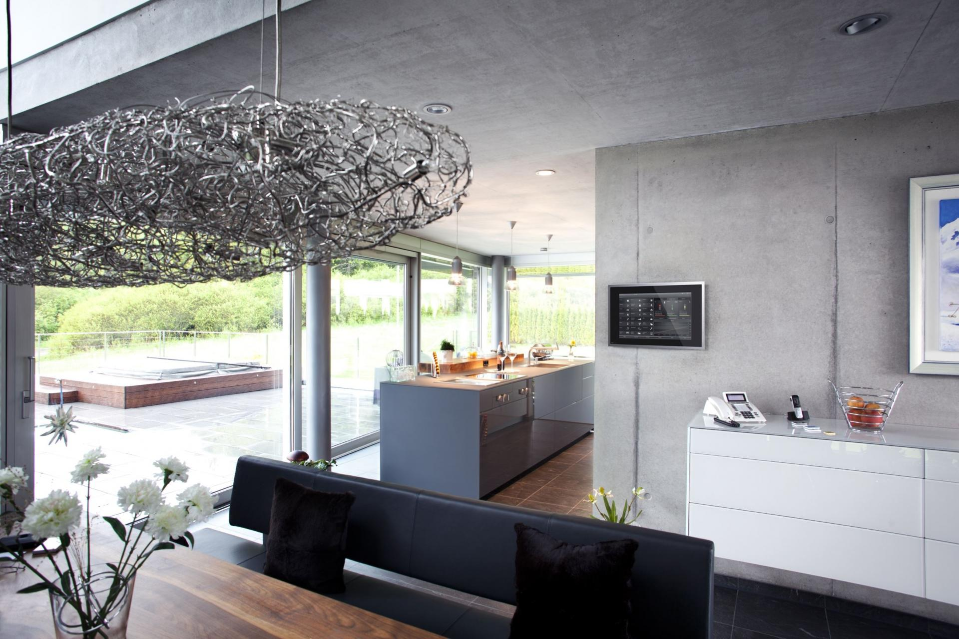 Metal Pendant Lamp - An engineer s incredible high tech dream home