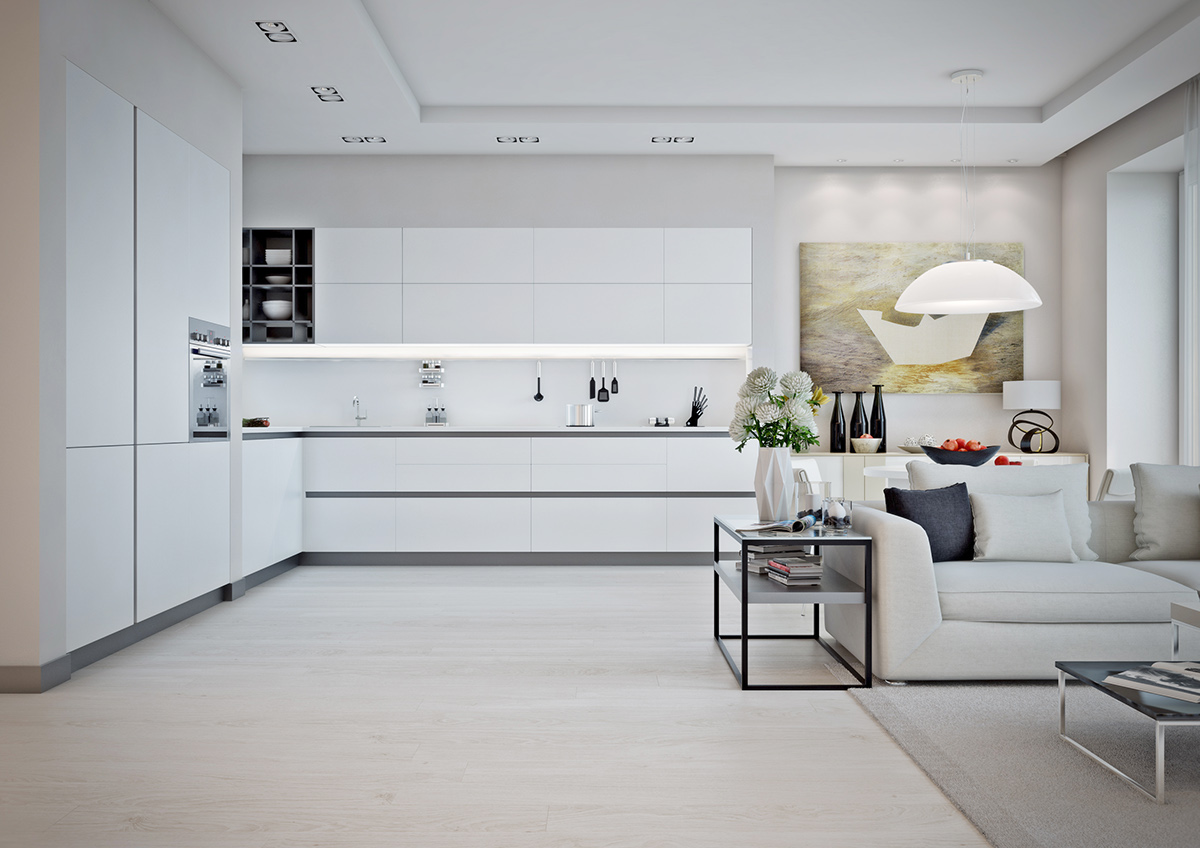 5 ideas for a one bedroom apartment with study includes Minimalist kitchen floor plans