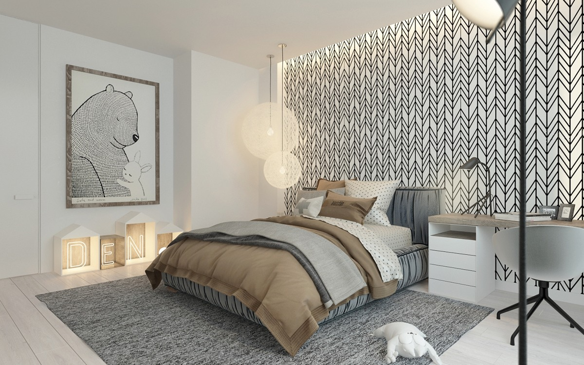 A pair of childrens bedrooms with sophisticated themes for Ideas de como decorar mi cuarto