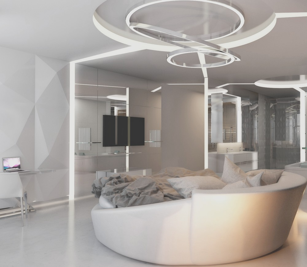 Modernist All White Bedroom - 8 striking bedrooms with distinct personalities