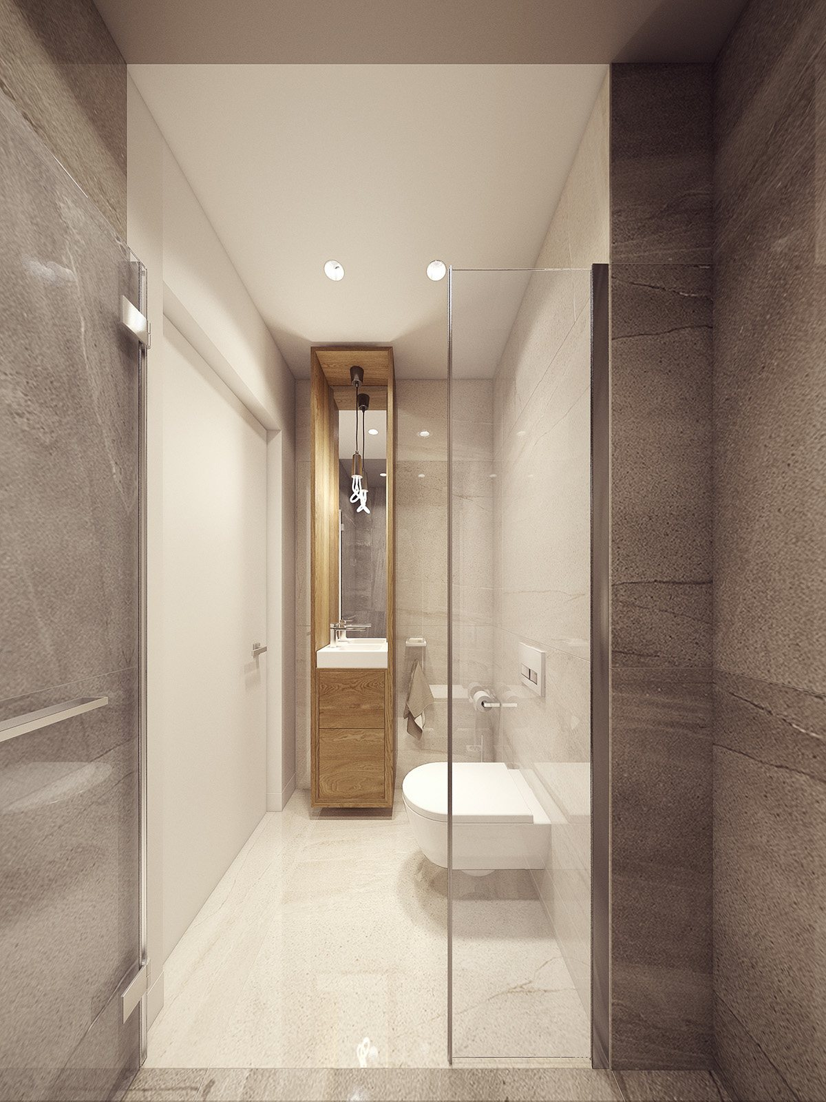 Narrow Bathroom Vanity For Small Space - Dramatic interior architecture meets elegant decor in krakow
