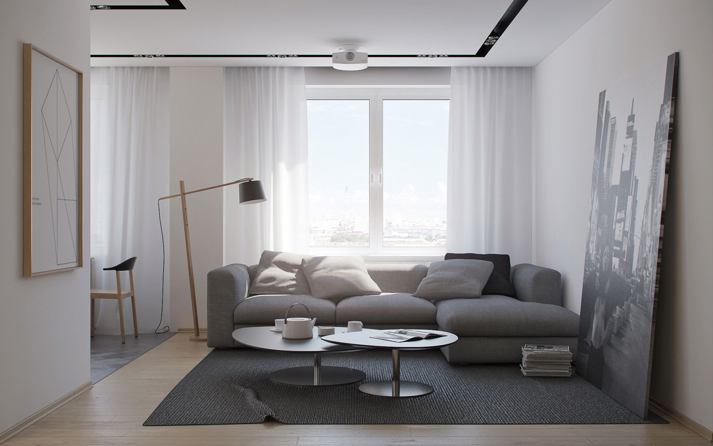 Natural Minimalist Apartment Theme - 5 ideas for a one bedroom apartment with study includes floor plans