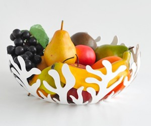 Alessi Mediterranean Fruit Bowl: Need something to fit your nautical or tropical theme? This is your bowl! It would make a stunning gift for ocean-lovers because its matte white finish makes sure it fits smoothly in any interior.