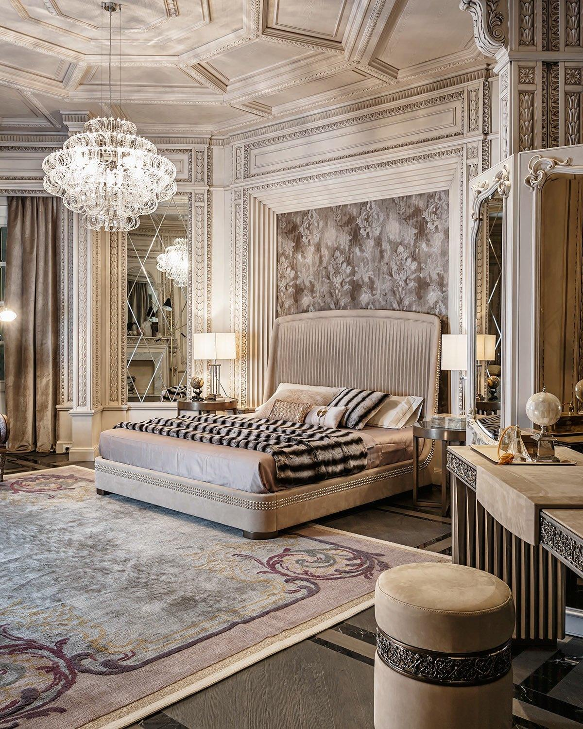 Neoclassical and art deco features in two luxurious interiors for Traditional art deco interior design