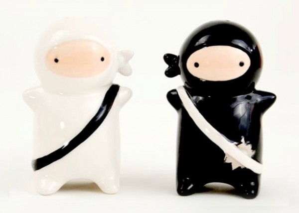 These ninja salt and pepper shakers will spice your meals with stealth and skill, and will make anyone feel cooler just by using them.