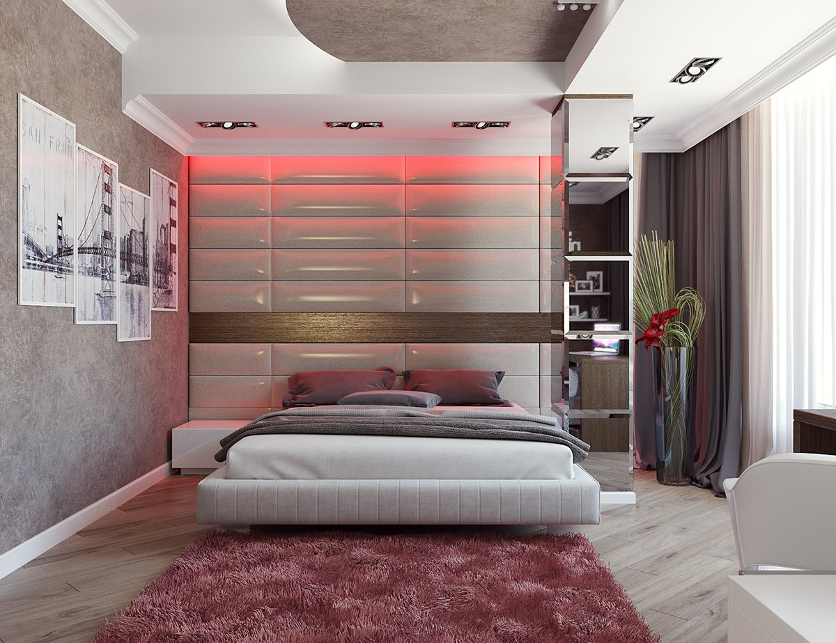 Pale Red Bedroom Theme - 8 striking bedrooms with distinct personalities
