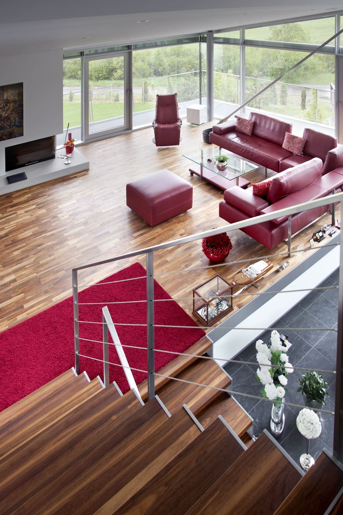 Red Leather Living Room Furniture - An engineer s incredible high tech dream home