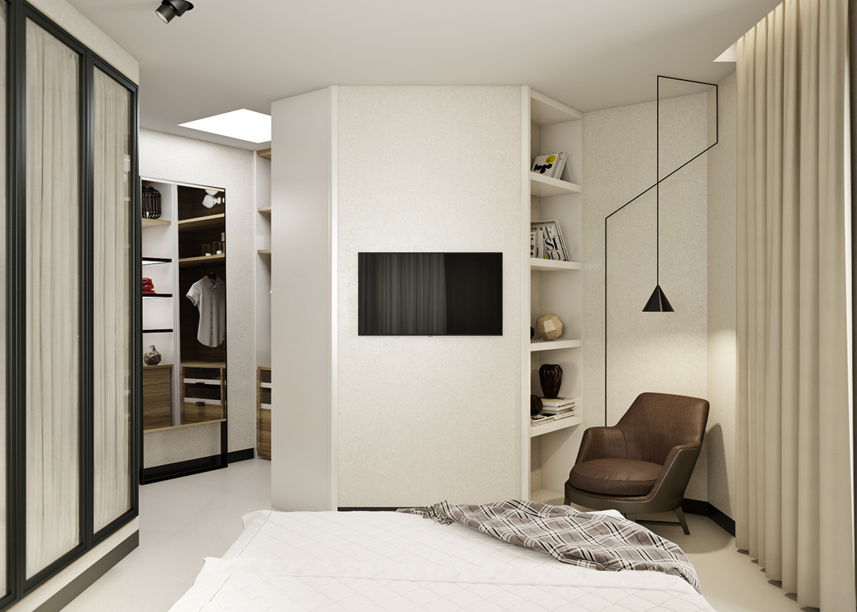 In Bedroom 5 Ideas For A One Bedroom Apartment With Study Includes Floor Plans