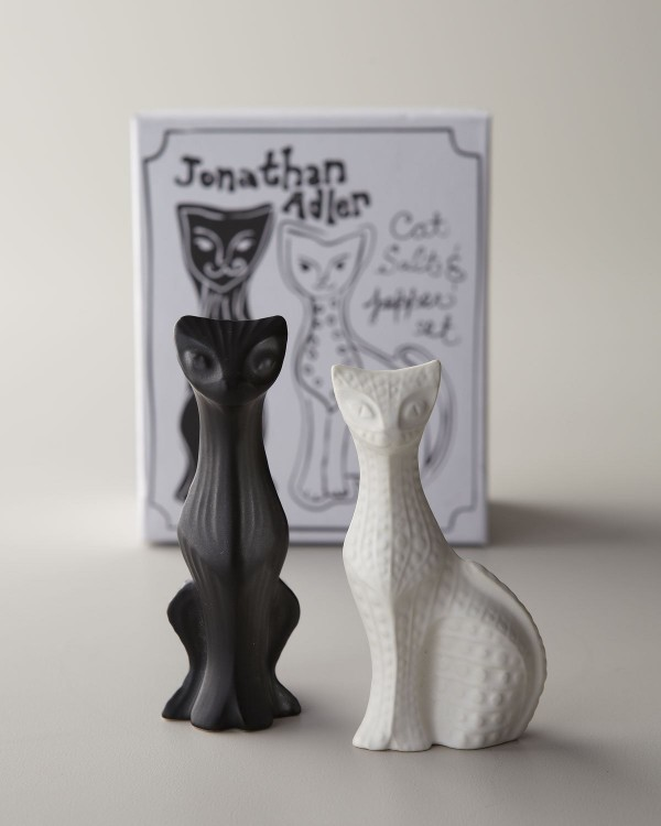 Jonathan Adler created these cat-shaped spice dispensers with a personality that is stoic, mysterious, and just a little sassy - much like the real thing.
