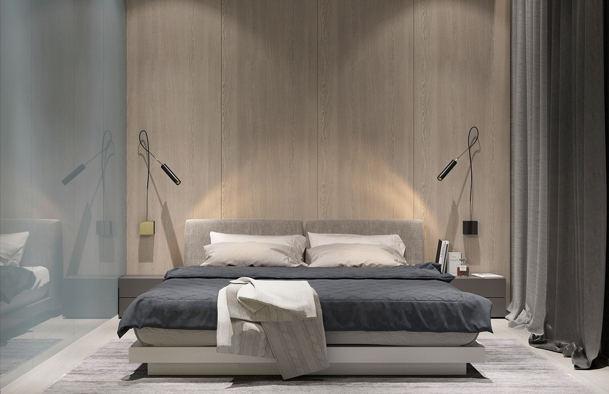 Subdued Minimalistic Bedroom - 8 striking bedrooms with distinct personalities