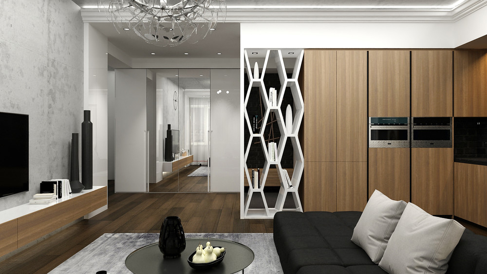 Unique Bookshelf Inspiration - 5 ideas for a one bedroom apartment with study includes floor plans