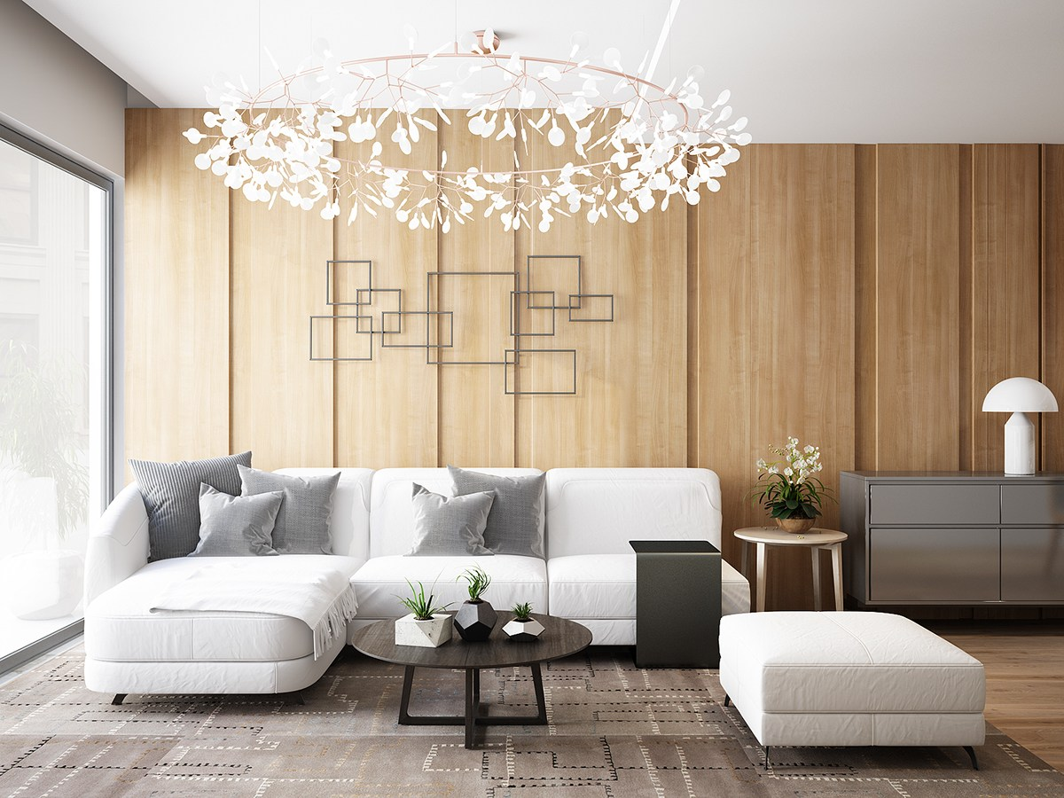 Living Room Wall Panels Ideas For Wall Design Living Room Chic - Wall panelling designs living room