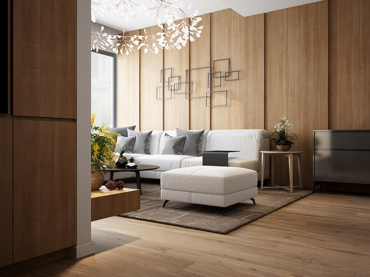 A tour of 4 homes with comfortable wood wall treatments for Wood panelling for walls interior