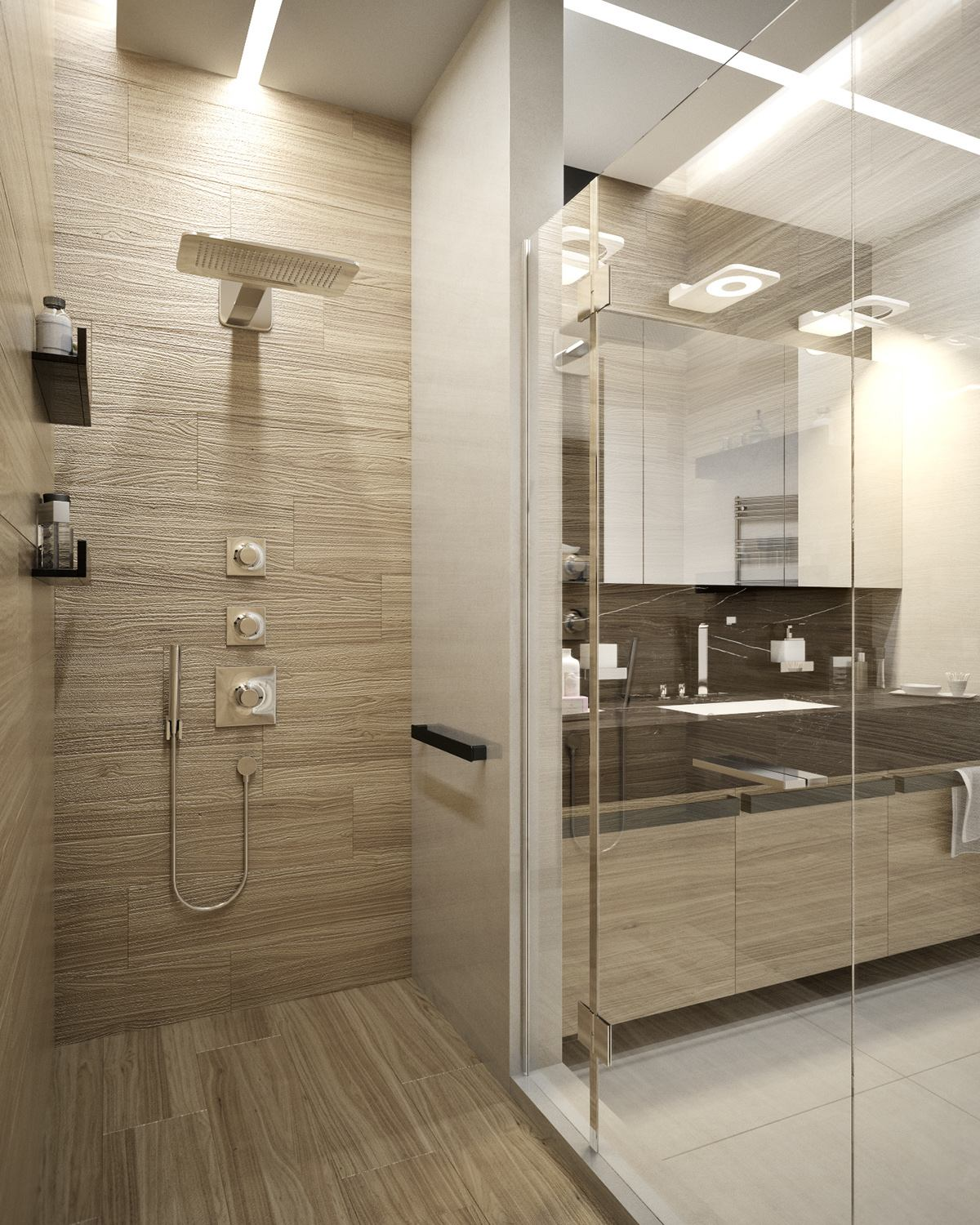 5 ideas for a one bedroom apartment with study includes for Petite salle de bain moderne douche
