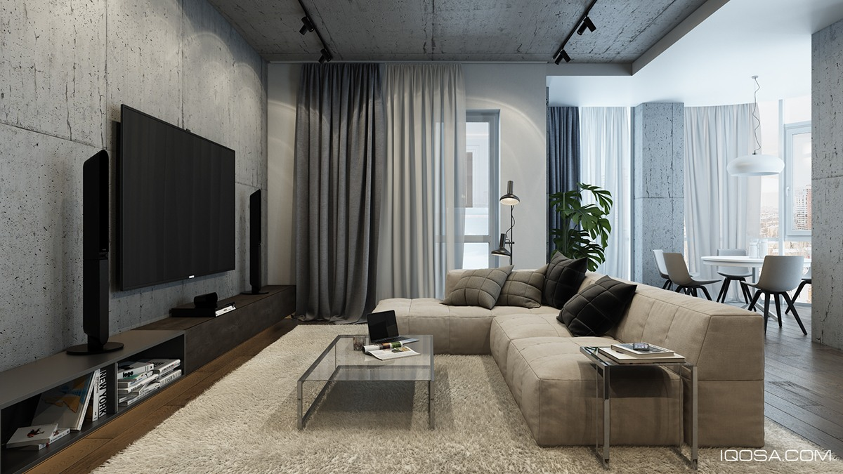 Design a chic modern space around a brick accent wall for Living room decor 2016