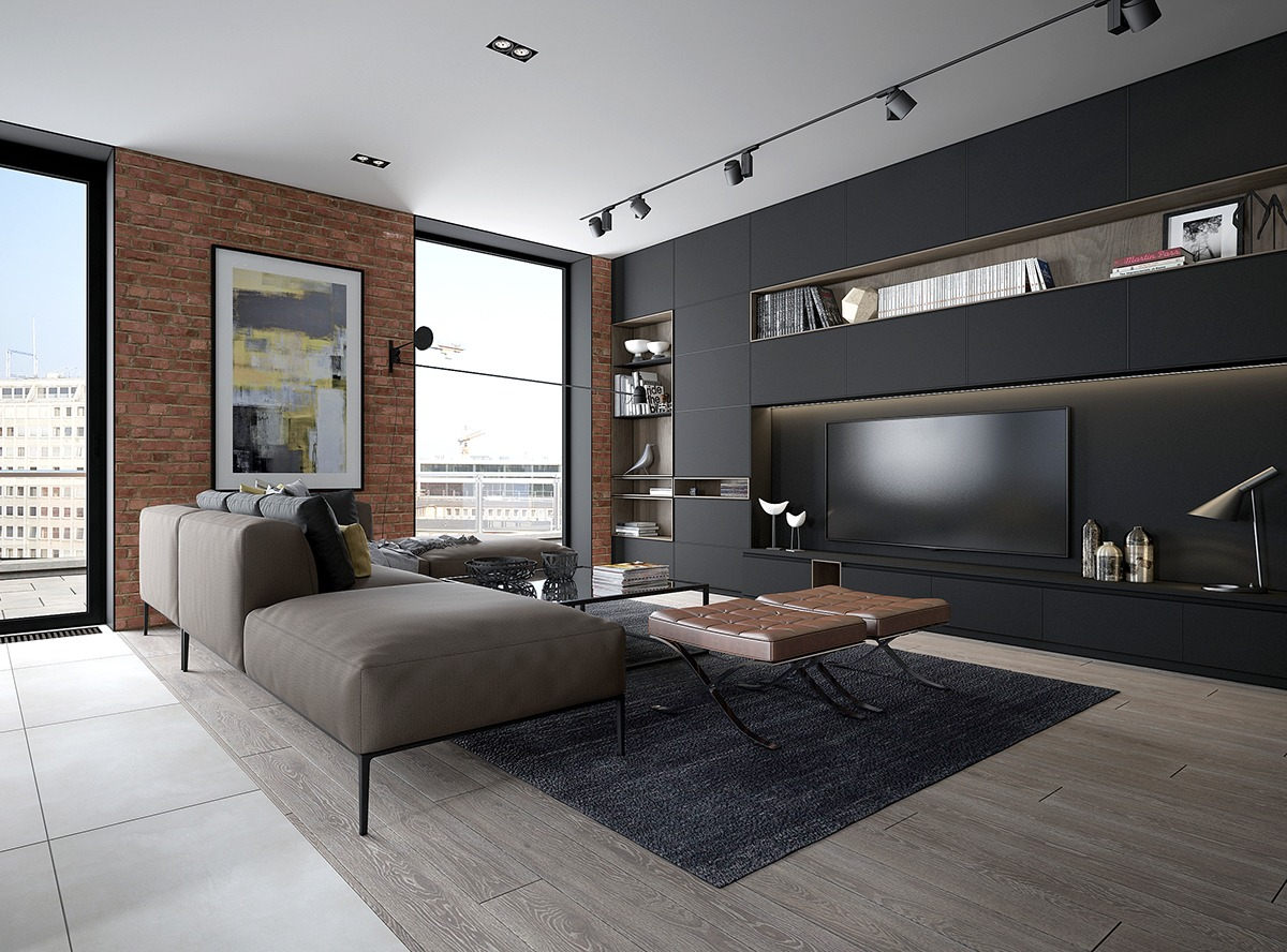 Design A Chic Modern Space Around Brick Accent Wall