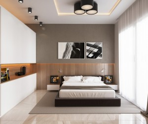 4 luxury bedrooms with unique wall details - Designed Bedroom