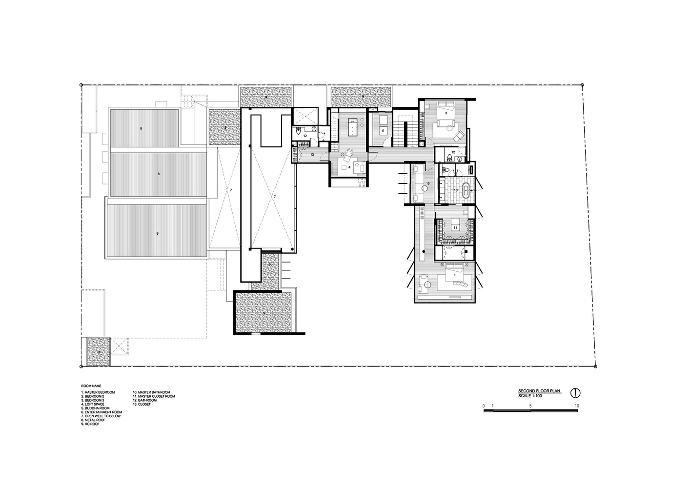 Modern house plans with courtyards in the middle for House plans with courtyard in middle