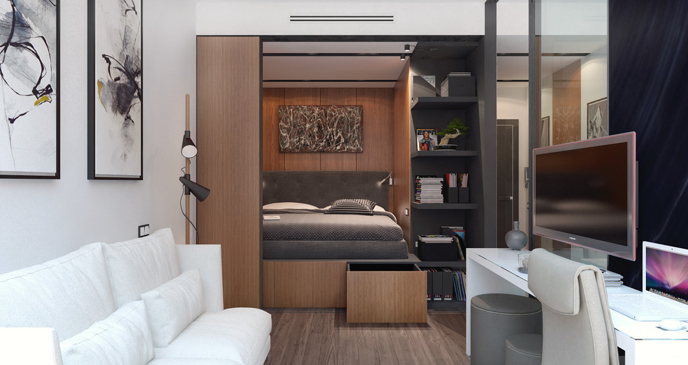 3 small spaces packed with big style includes floor plans for Studio apartment solutions
