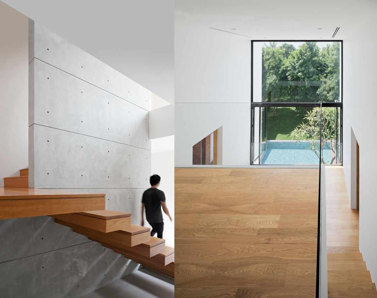 Stunning Staircase Amazing Staircase - Spectacular modern house with courtyard swimming pool
