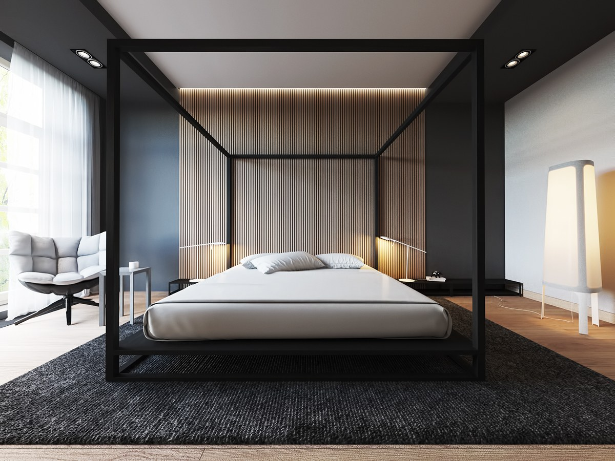 4 Luxury Bedrooms With Unique Wall