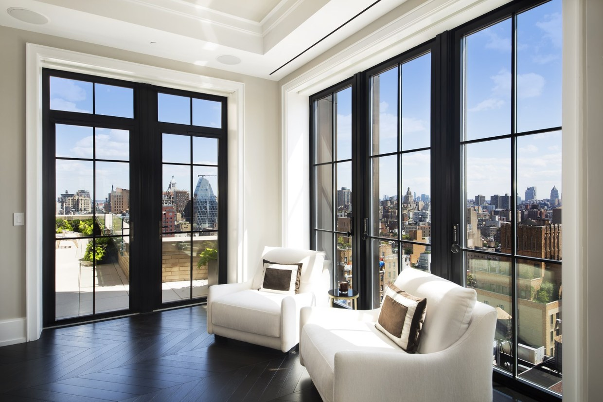two sophisticated luxury apartments in ny includes floor plans. Black Bedroom Furniture Sets. Home Design Ideas