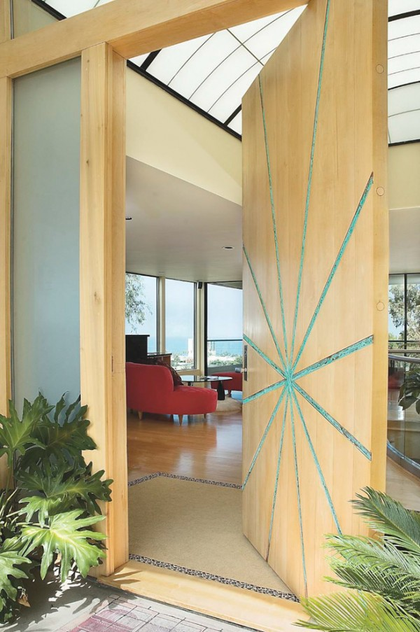 50 modern front door designs for Big main door designs