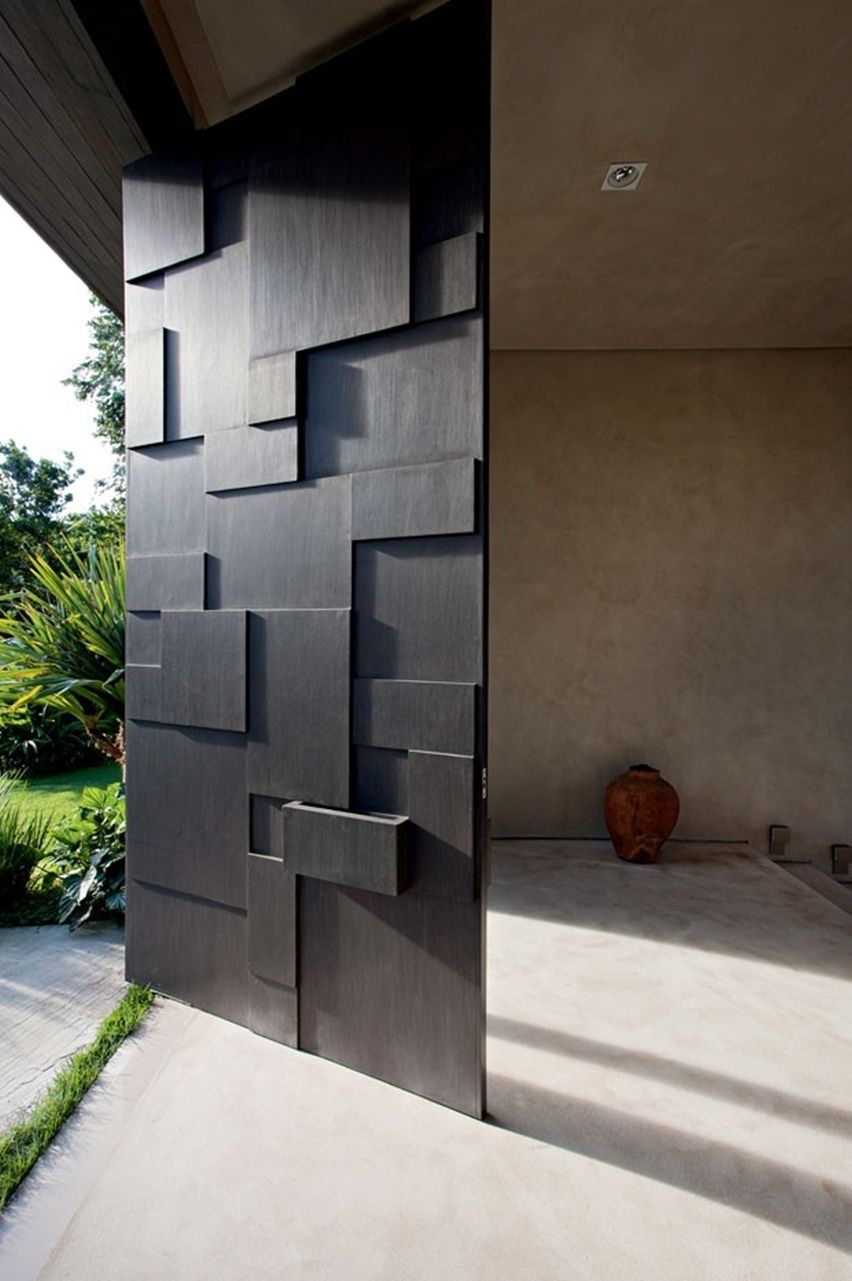 50 modern front door designs for Puertas metalicas exterior