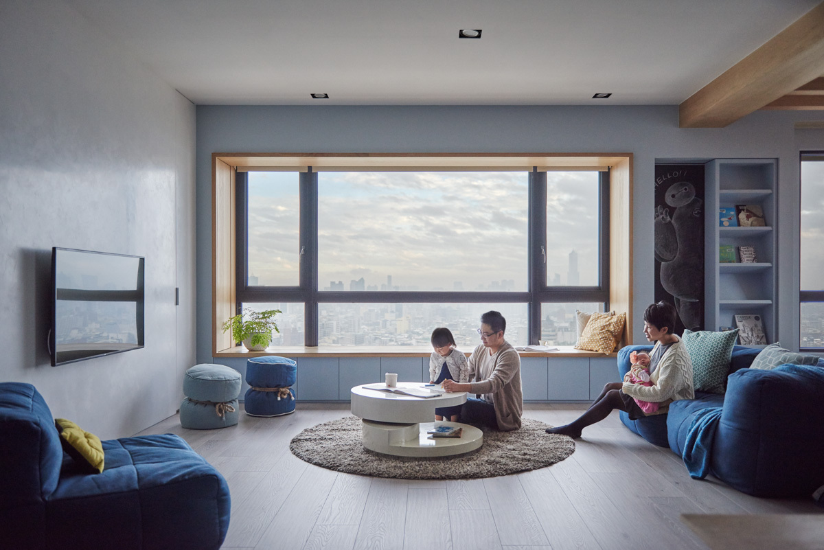 Child Friendly Furniture Inspiration - Colorful modern apartment for a family with small children