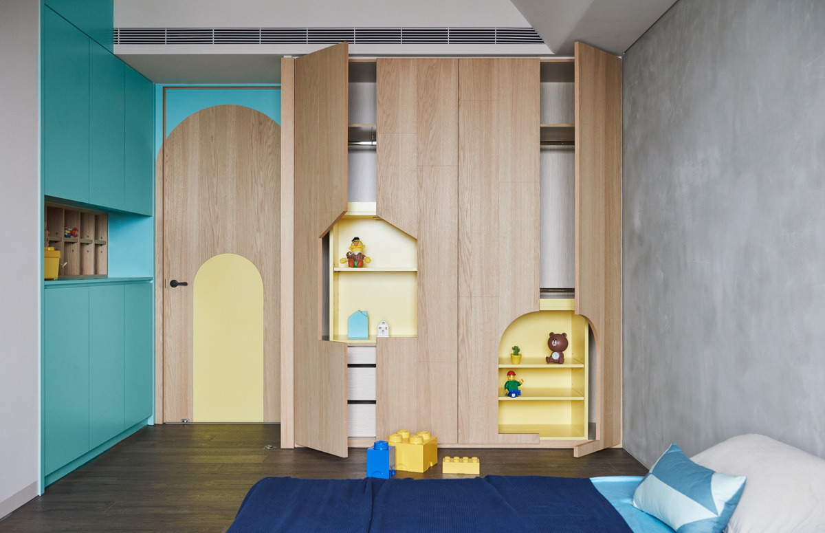 Creative Storage Ideas For Kids - Colorful modern apartment for a family with small children