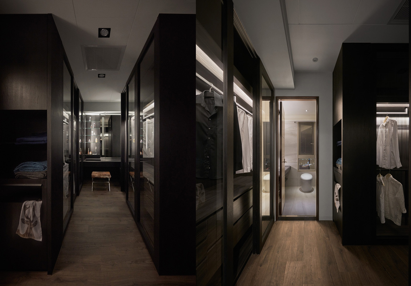 Dark And Stylish Wardrobe Ideas - Colorful modern apartment for a family with small children