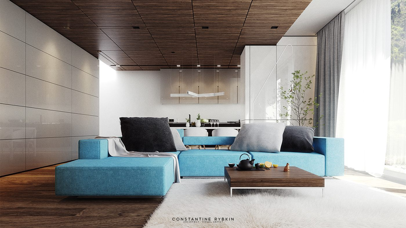 Living Room Table Modern House