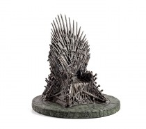 "7"" Iron Throne: This amazingly detailed Iron Throne figure stands exactly the same height as the Blu-ray and DVD cases so it's perfect for display on a shelf alongside your collection. If you have any action figures lying around, get ready for some hilarious mashups."