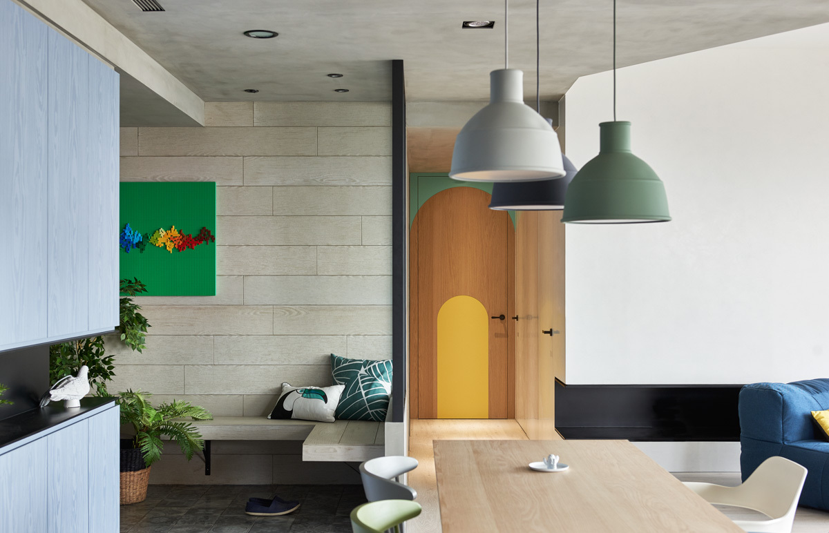 Kid Friendly Apartment Design Ideas - Colorful modern apartment for a family with small children