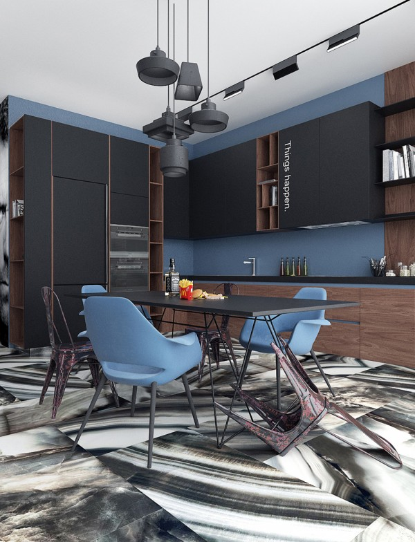 4 Charming Blue Accent Apartments With Compact Layouts – Paris-Sete