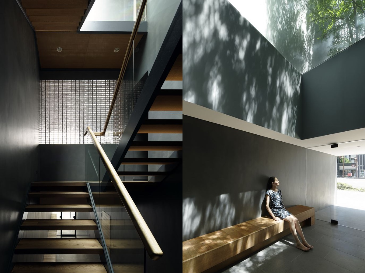 Light And Glass Interior Design - An incredible interior courtyard shielded by optical glass bricks